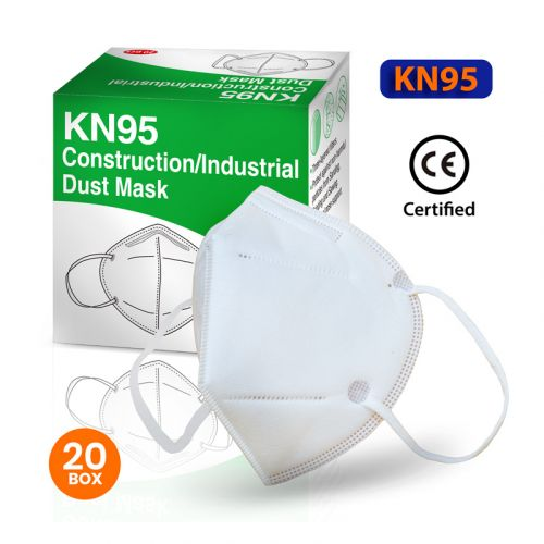 KN95 RESPIRATOR MASKS (20 Per Box) CE CERTIFIED, by Grip Tight Tools®