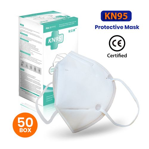 KN95 RESPIRATOR MASKS (50 Per Box) CE CERTIFIED, by Grip Tight Tools®